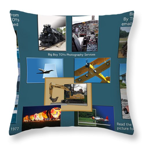 Big Boy Toys Throw Pillow featuring the photograph Big Boy Toys Photography Services by Thomas Woolworth