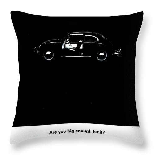 Volkswagen Throw Pillow featuring the photograph Big Enough by Benjamin Yeager