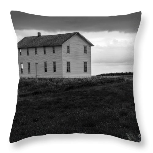 Icarian Throw Pillow featuring the photograph Big House In A Storm by Edward Peterson