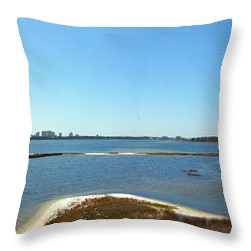 Big Lagoon Throw Pillow featuring the photograph Big Lagoon 1 by Nancy L Marshall