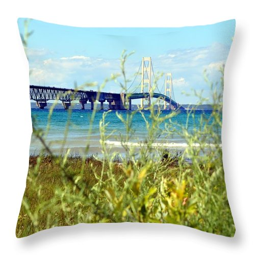 Michigan Throw Pillow featuring the photograph Big Mac by Lorraine Paffenroth