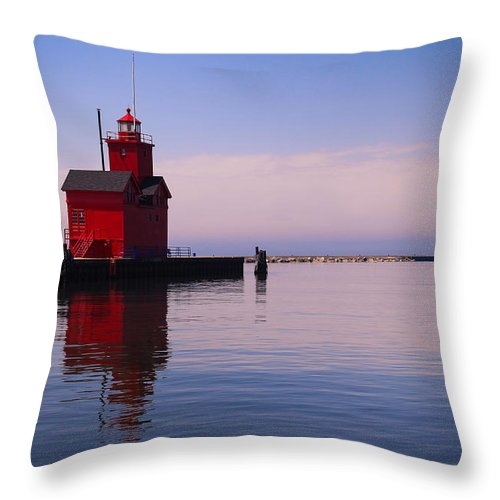 Big Red Throw Pillow featuring the photograph Big Red by Rachel Cohen