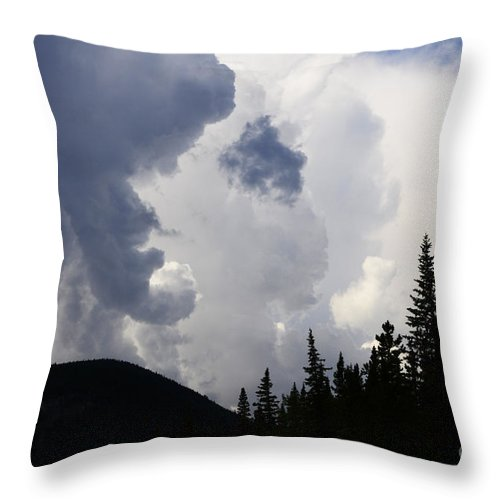 Clouds Throw Pillow featuring the photograph Big Sky Big Weather by Bob Christopher