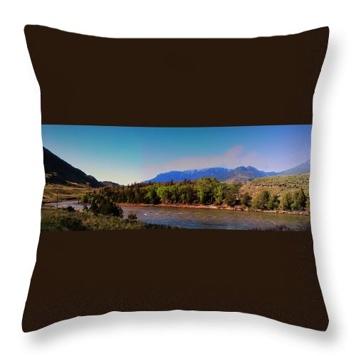 Leaves Throw Pillow featuring the photograph Big Sky Country Montana by Thomas Woolworth