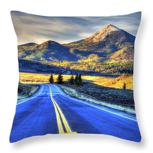 Landscape Throw Pillow featuring the photograph Big Sky by Scott Mahon