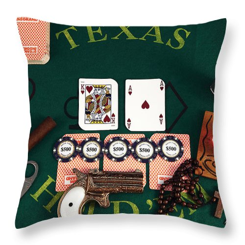 Gambling Throw Pillow featuring the photograph Big Slick by John Rizzuto