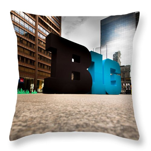 Throw Pillow featuring the photograph BIG by Sue Conwell