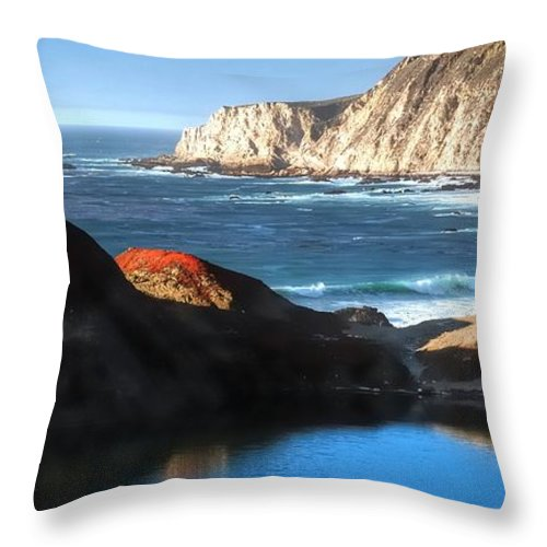 Reflect Throw Pillow featuring the photograph Big Sur Coastline 20103 by Jerry Sodorff