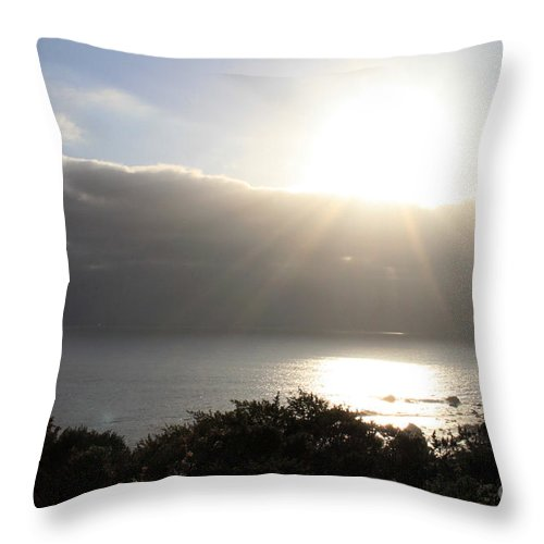 Sunset Throw Pillow featuring the photograph Big Sur Sunset by Linda Woods