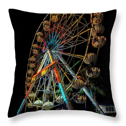 Hdr Throw Pillow featuring the photograph Big Wheel by Adrian Evans