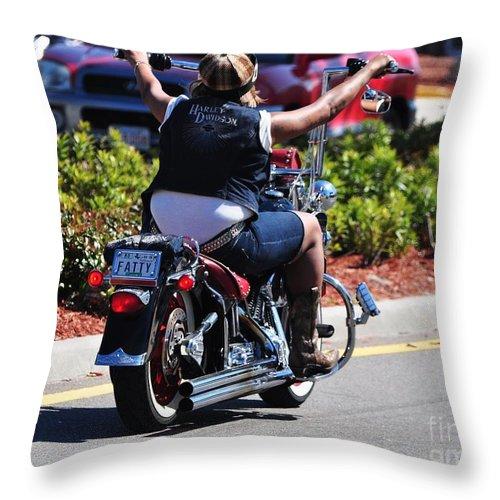 Bike Week Throw Pillow featuring the photograph Bike Week by Davids Digits