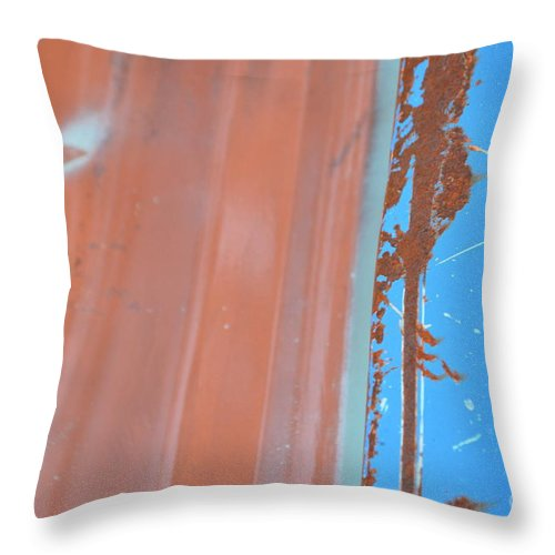 Abstract Throw Pillow featuring the photograph Bilateral Blue by Brian Boyle
