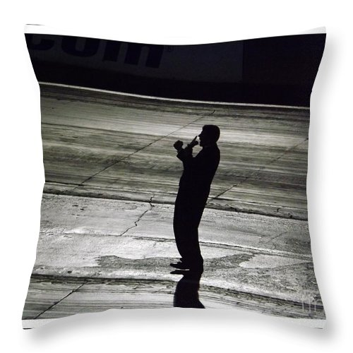 Racing Throw Pillow featuring the photograph Bill Bader Jr by Sara Raber