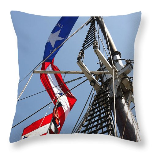 Ship Throw Pillow featuring the photograph Bill Of Rights by Art Block Collections
