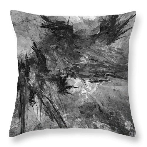 Painting Throw Pillow featuring the digital art Bird - Marucii by Marek Lutek