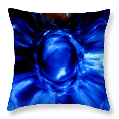 Blue Throw Pillow featuring the digital art Birth Of Blue by Donna Proctor