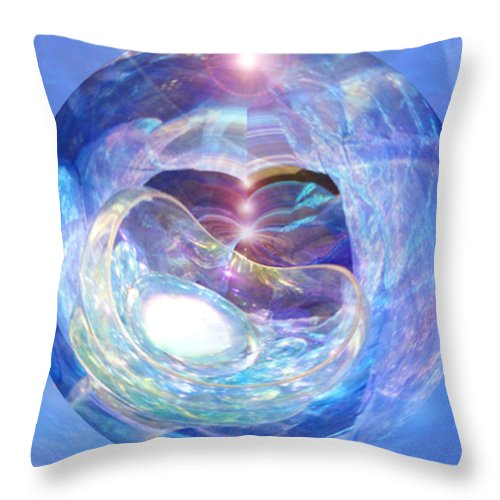 Spiritual. Healing Art Throw Pillow featuring the mixed media Birth Of Light by Norma L Lloyd