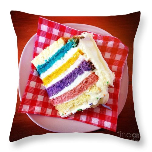 Cake Throw Pillow featuring the photograph Birthday Time by Neil Overy