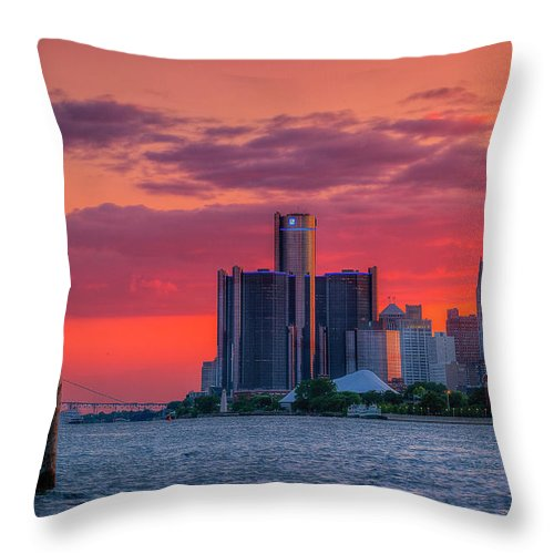 Tranquility Throw Pillow featuring the photograph Birthplace Of Techno by Joshua Bozarth