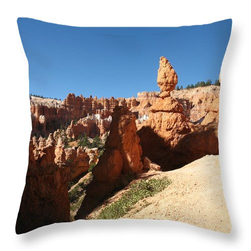 Canyon Throw Pillow featuring the photograph Bizarre Shapes - Bryce Canyon by Christiane Schulze Art And Photography
