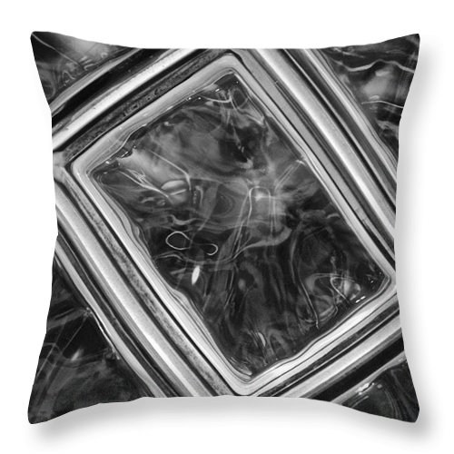 Abstract Throw Pillow featuring the photograph Black And White Abstract by Frozen in Time Fine Art Photography