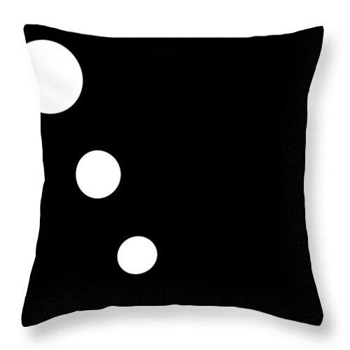 Black Throw Pillow featuring the digital art Black And White Art 160 by Ely Arsha