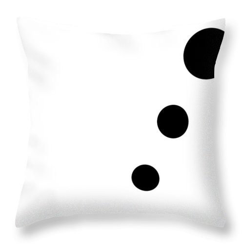 Black Throw Pillow featuring the digital art Black And White Art 161 by Ely Arsha