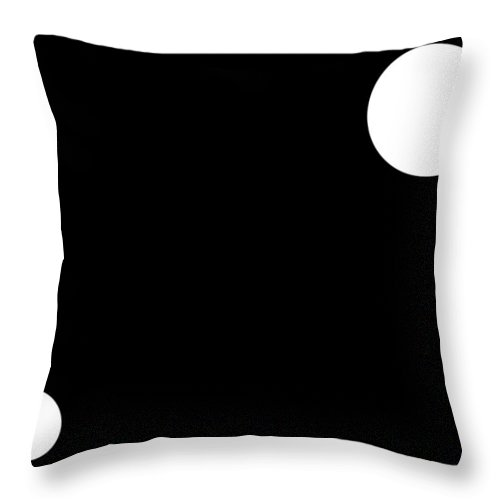 Black Throw Pillow featuring the digital art Black And White Art 162 by Ely Arsha