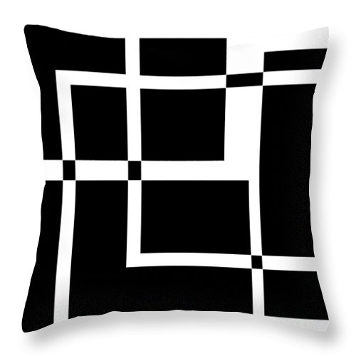 Black Throw Pillow featuring the digital art Black And White Art 172 by Ely Arsha