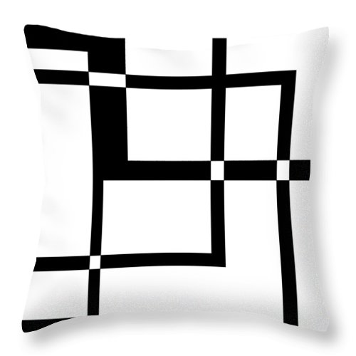 Black Throw Pillow featuring the digital art Black And White Art 173 by Ely Arsha