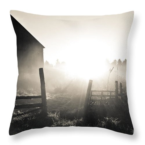 Throw Pillow featuring the photograph Black And White Sunrise by Cheryl Baxter