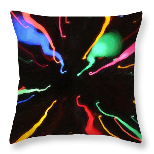 Kenny Francis Throw Pillow featuring the photograph Black Hole Abstract by Kenny Francis