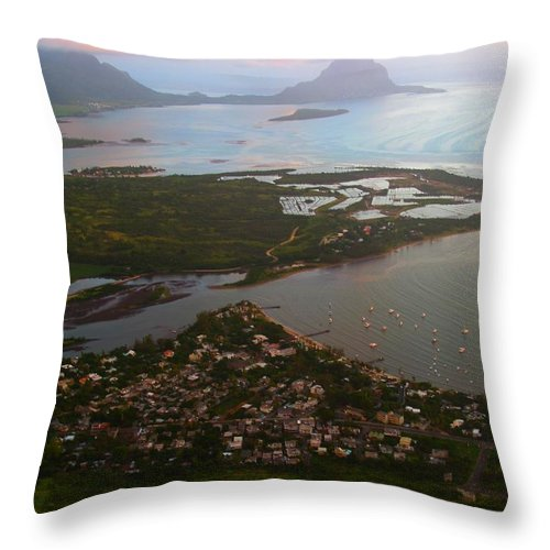 Mauritius Throw Pillow featuring the photograph Black River Le Morne by Ron Holl