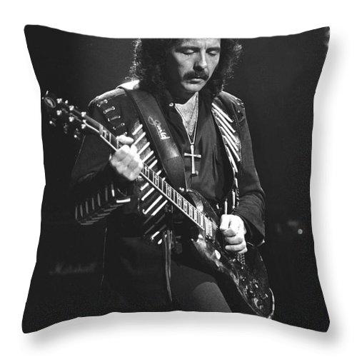 Black Sabbath Throw Pillow featuring the photograph Black Sabbath by Concert Photos