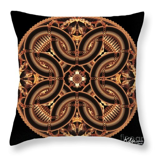 Mandala Throw Pillow featuring the photograph Black Walnut Interlock by Karen Jordan Allen