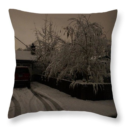 Blackout Throw Pillow featuring the photograph Blackout At My House by Mick Anderson