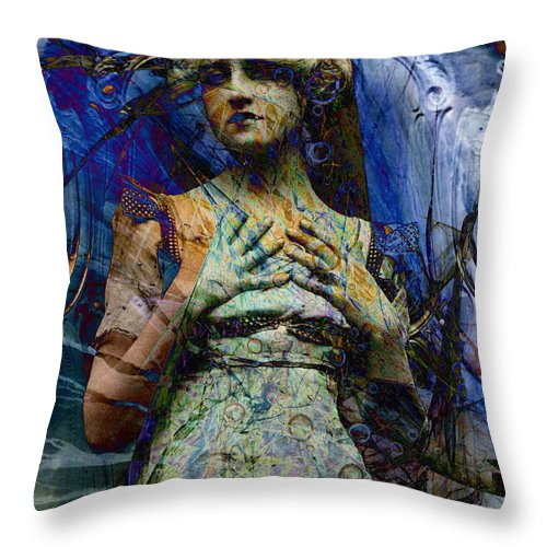 Digital Throw Pillow featuring the digital art Blade Apophysis Venti by Mary Clanahan