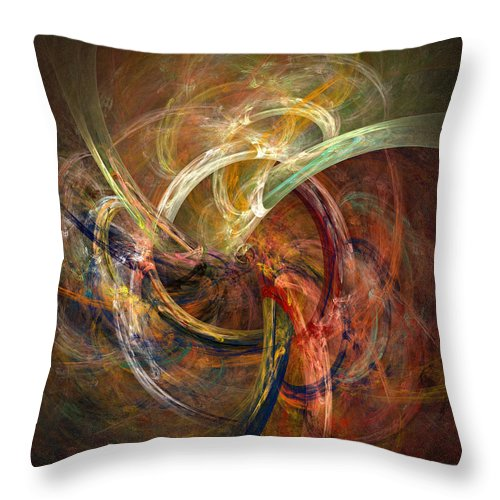 Abstract Throw Pillow featuring the digital art Blagora by David April