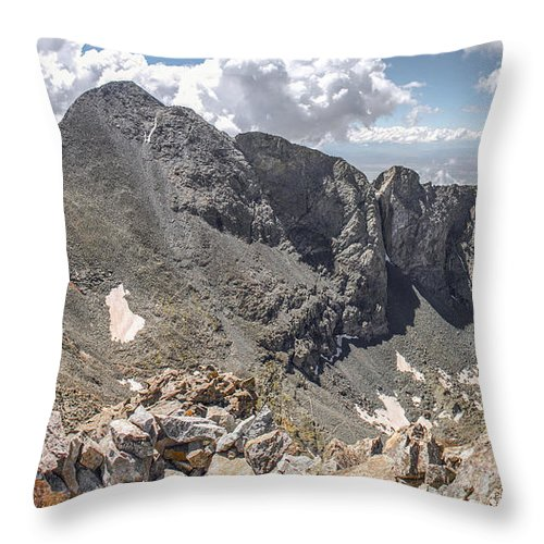 Blanca Throw Pillow featuring the photograph Blanca And Little Bear by Aaron Spong