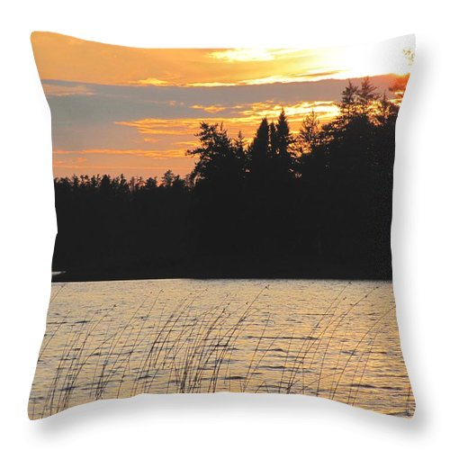 Sunset Throw Pillow featuring the photograph Blazing Sunset Three Of Series by Carolyn Mortensen