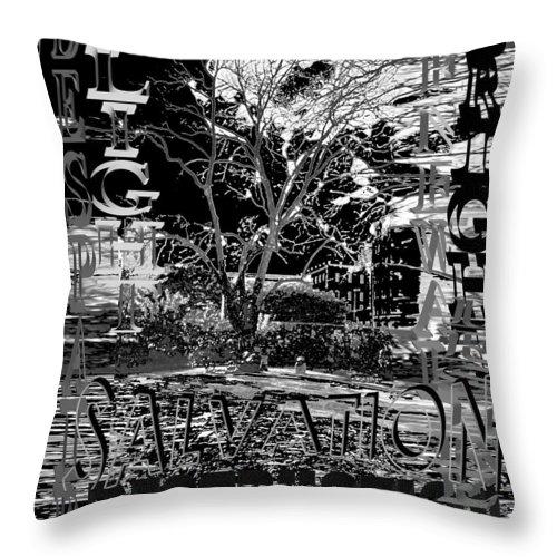 Bleak Throw Pillow featuring the digital art Bleak Renewal by Pharris Art