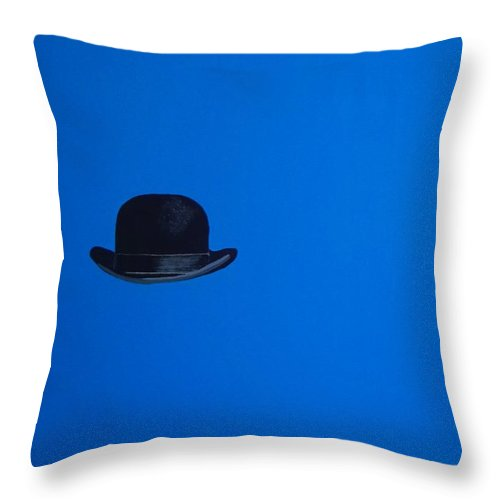 Modern Art Throw Pillow featuring the painting Blimey Blue by Venus
