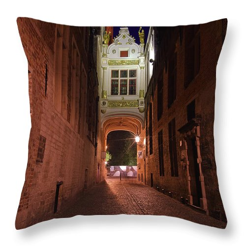 3scape Throw Pillow featuring the photograph Blind Donkey Alley by Adam Romanowicz
