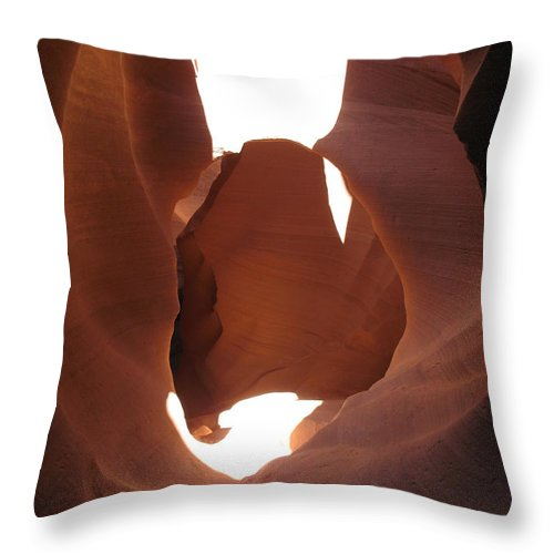 Canyon Throw Pillow featuring the photograph Blocked Canyon by Christiane Schulze Art And Photography