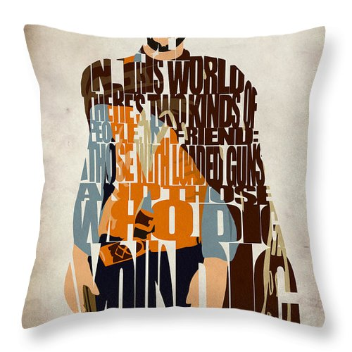 Blondie Throw Pillow featuring the digital art Blondie Poster From The Good The Bad And The Ugly by Inspirowl Design
