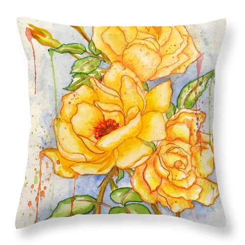 Blood Sweat & Tears Throw Pillow featuring the painting Blood Sweat And Tears by Darren Robinson