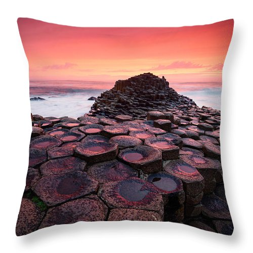 Ireland Throw Pillow featuring the photograph Bloody Causeway by Michael Breitung