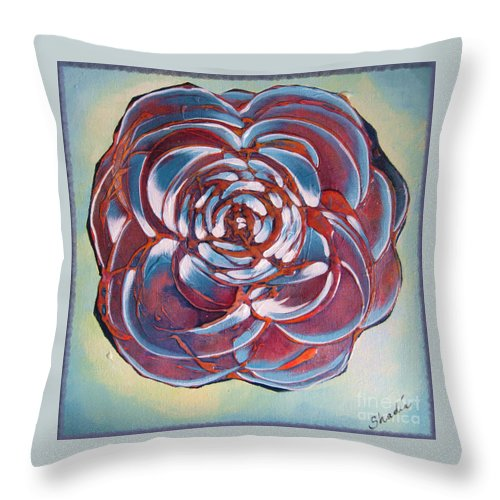 Bloom Throw Pillow featuring the painting Bloom II by Shadia Derbyshire