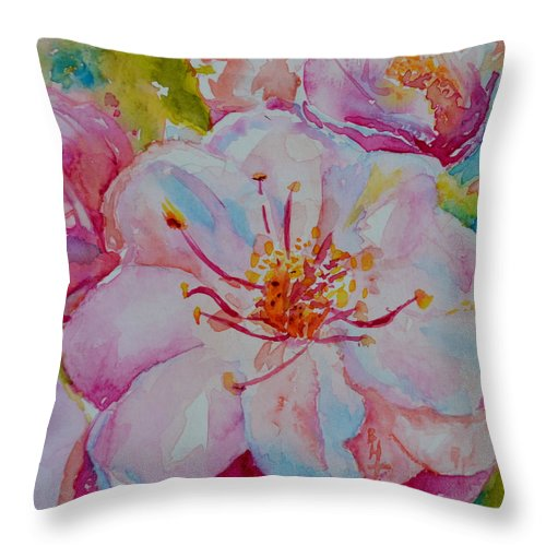 Blossom Throw Pillow featuring the painting Blossom by Beverley Harper Tinsley
