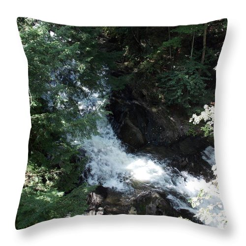 Blow Me Down Throw Pillow featuring the photograph Blow Me Down Brook by Catherine Gagne